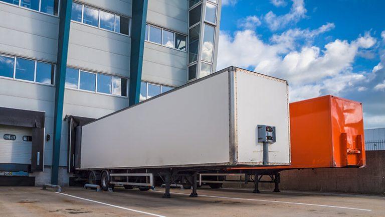 Trucks at a Warehouse Dock